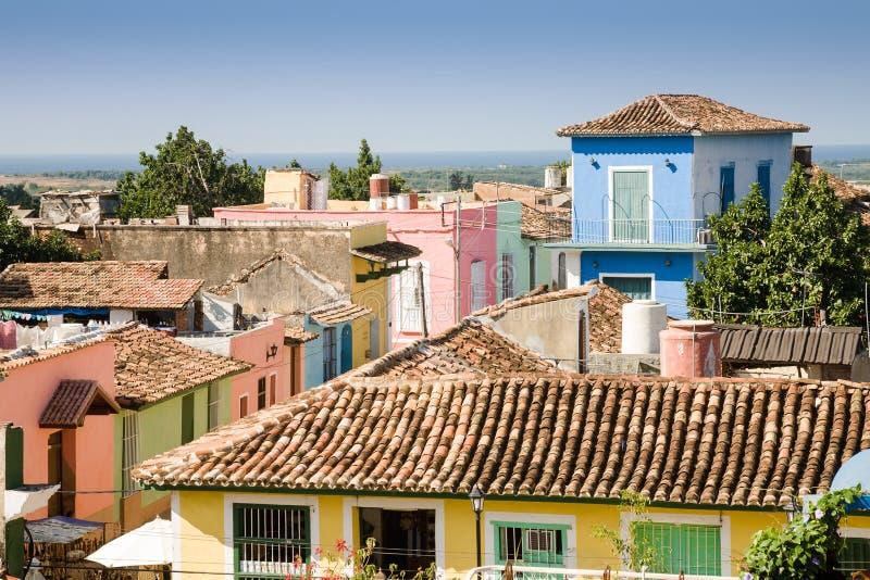 Toits du Trinidad, Cuba image stock