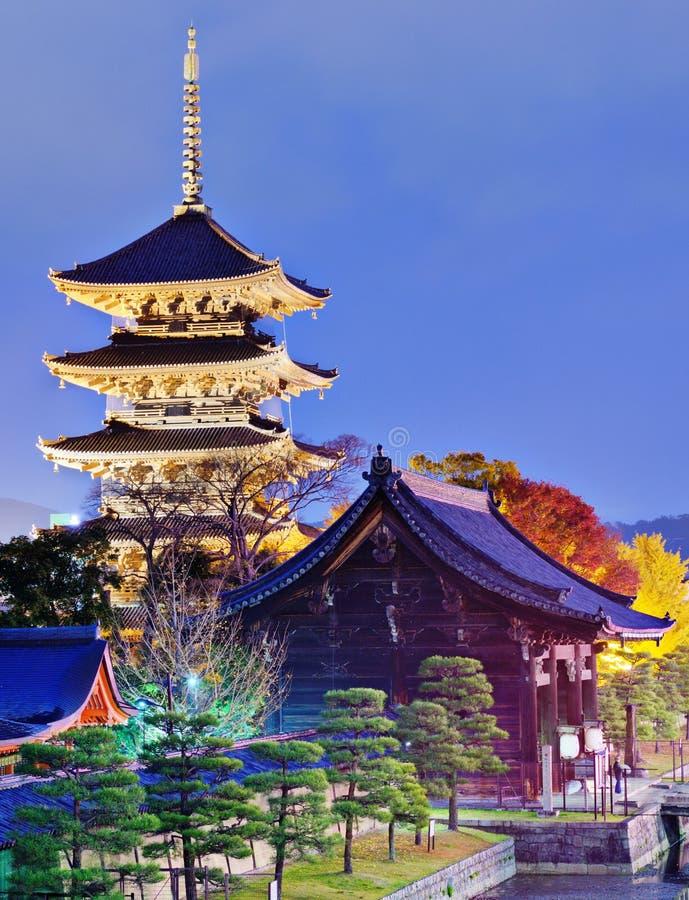 Toji pagod i Kyoto arkivfoton