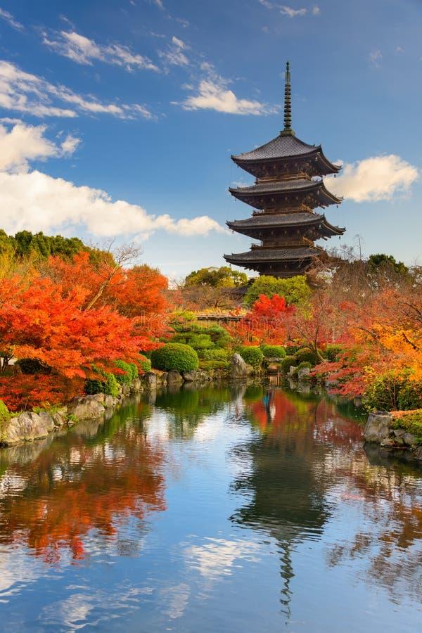 Toji Pagoda in Japan royalty free stock photography