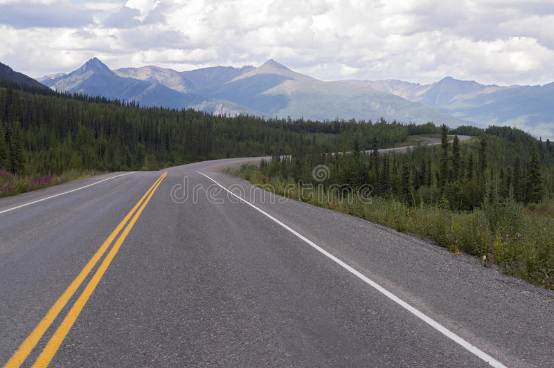 Tok Cutoff Highway, Alaska fotografia de stock royalty free