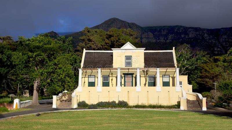 Tokai Manor House. Headquarters of Table Mountain National Park and a fine example of Cape Dutch architecture, dates back to 1796 royalty free stock images