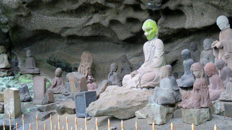 Tokai 1.500 Rakan bij de tempel van Nihon ji in Japan stock foto