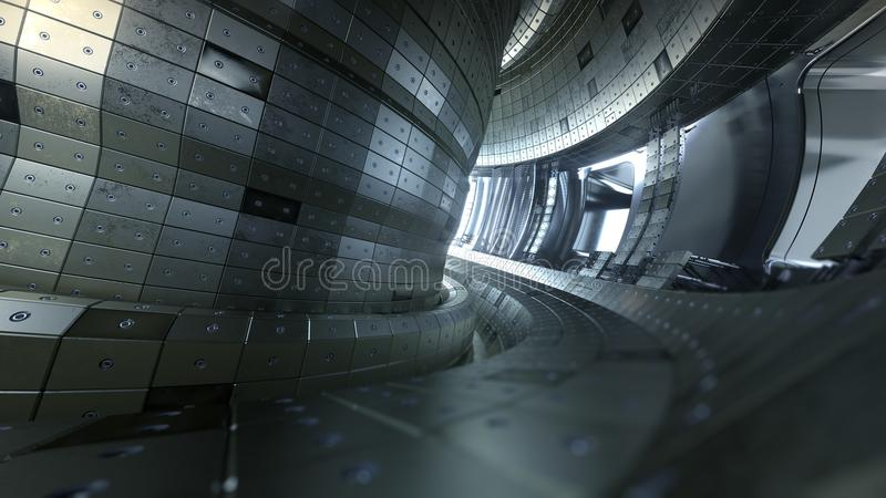 Tokamak de réacteur à fusion Chambre de réaction Énergie de fusion illus 3d illustration libre de droits