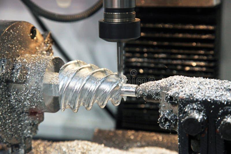Tokarka, CNC mielenia maszyna zdjęcie royalty free
