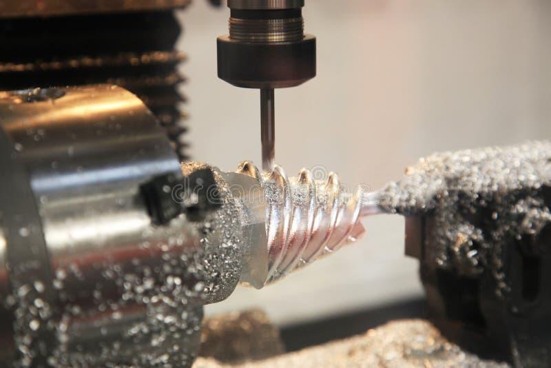 Tokarka, CNC mielenia maszyna obrazy royalty free