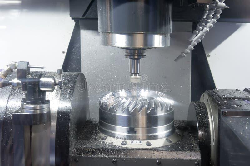 Tokarka, CNC mielenie obraz stock