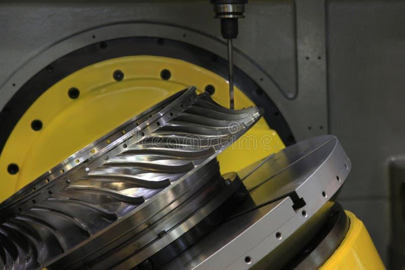 Tokarka, CNC mielenie obrazy stock
