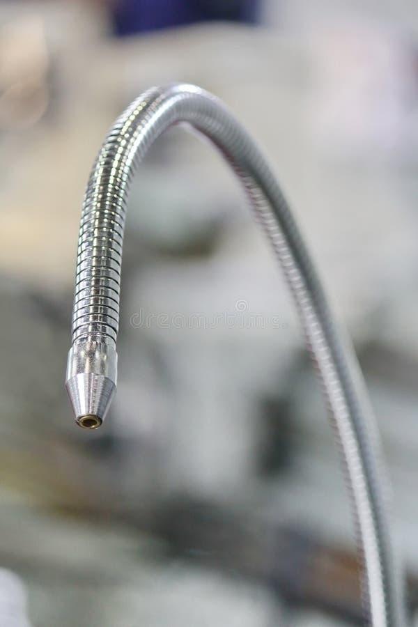 Tokarski Maszynowy Coolant wąż elastyczny zdjęcia stock