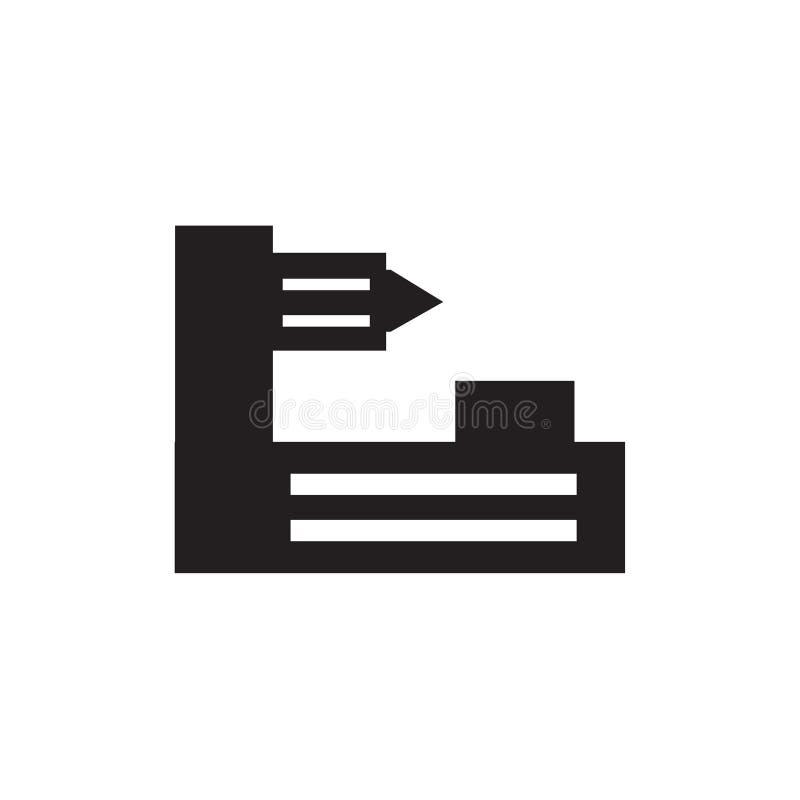 Tokarski maszynowy ikona wektoru znak i symbol odizolowywający na białym tle, Tokarski maszynowy logo pojęcie royalty ilustracja