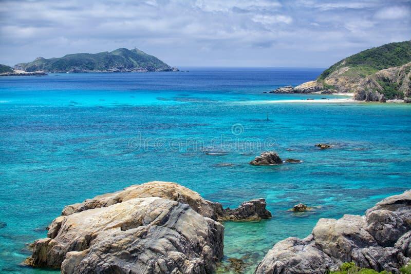Tokashiki island. Rock cliffs at Tokashiki island next to Okinawa royalty free stock photography