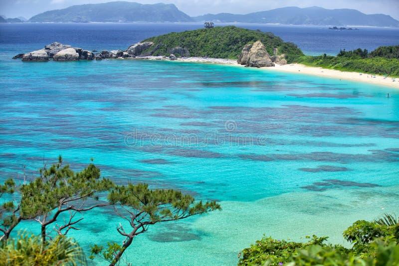 Tokashiki island. Rock cliffs at Tokashiki island next to Okinawa stock image