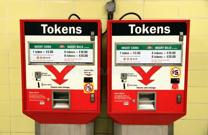 Tokens Machines stock photo