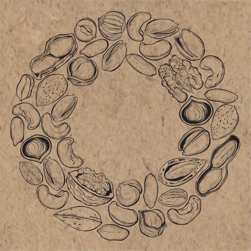 Tokig bakgrund på kraft papper Matillustration med mummel vektor illustrationer