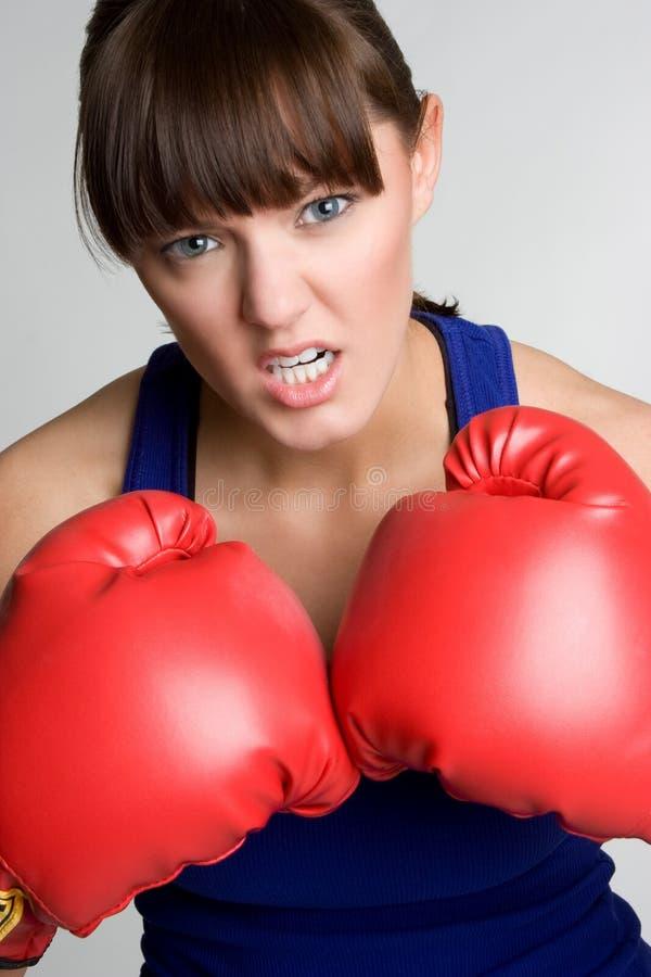 tokig boxarekvinnlig arkivbild