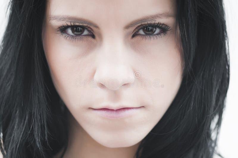 tokig kvinna arkivfoto
