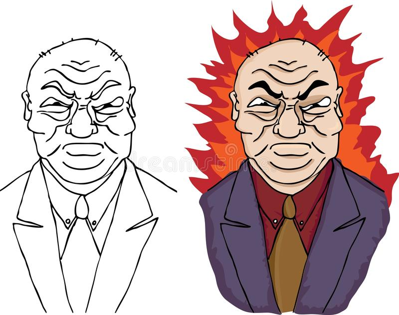 tokig man för dåligt framstickande royaltyfri illustrationer