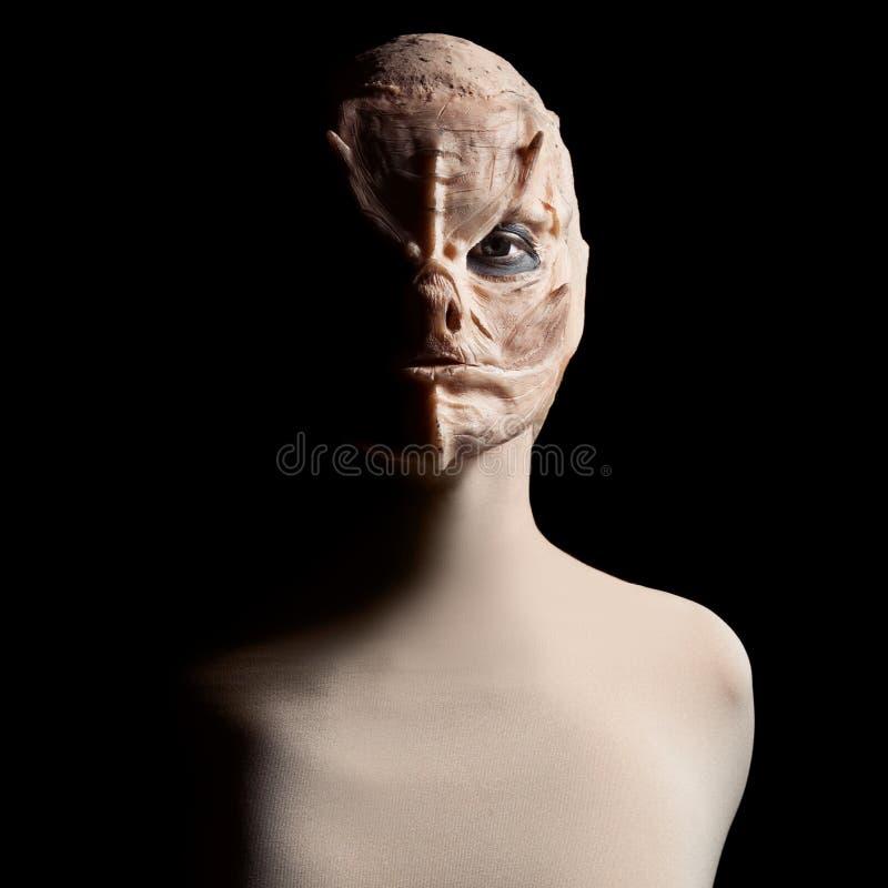Tokigt fult monster halloween royaltyfri bild