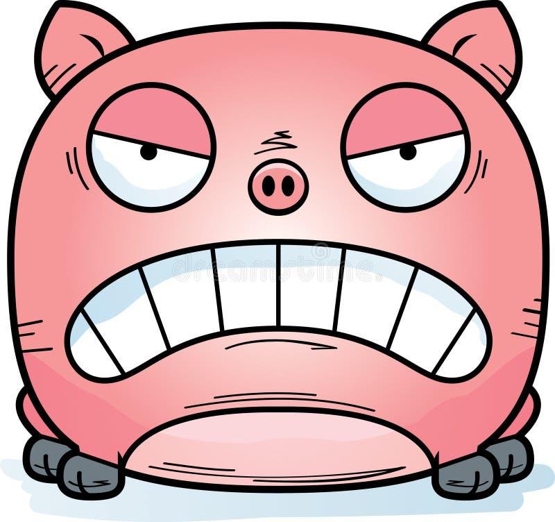 Tokigt litet svin vektor illustrationer
