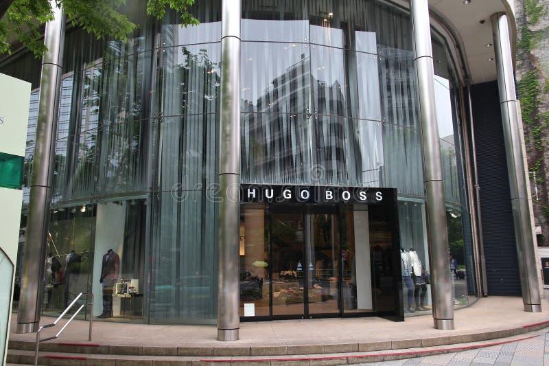 Hugo Boss en Japón fotografía de archivo