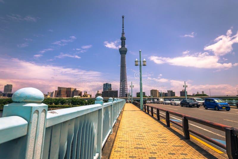 Tokio - 19 de mayo de 2019: Torre de Tokio Skytree en Asakusa, Tokio, Japón foto de archivo libre de regalías