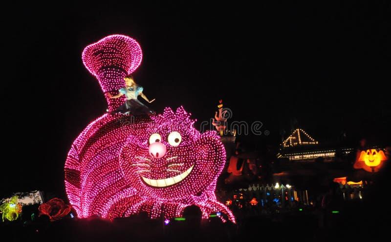 Tokio Disney Gruntowa Elektryczna parada. zdjęcie royalty free