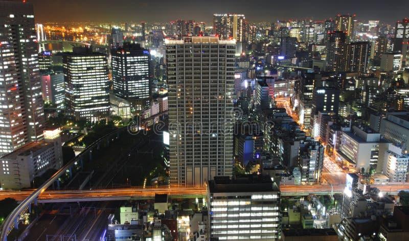 Tokio En La Noche Fotos de archivo libres de regalías