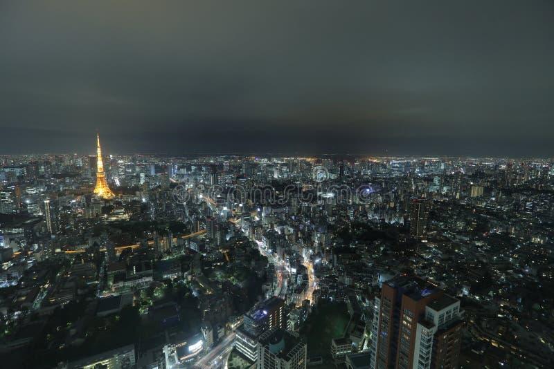 Tokio góruje jak widzieć z linią horyzontu od metropolita zdjęcie stock
