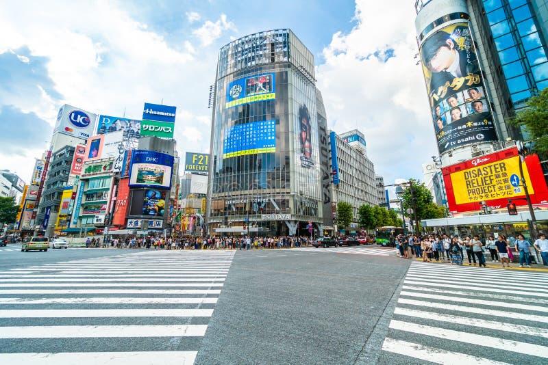 Tokio, Japón 29 de julio de 2018: La intersección o la travesía de Shibuya es imagenes de archivo