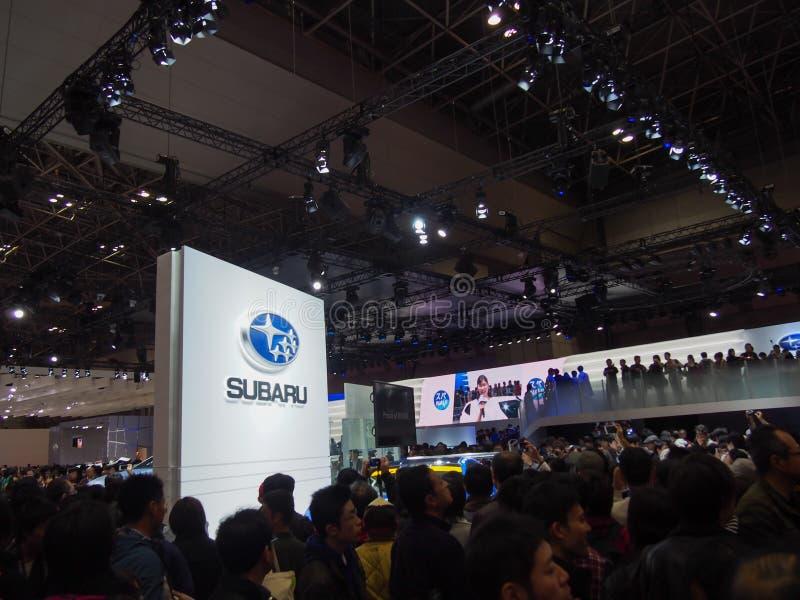 TOKIO, JAPÓN - 23 de noviembre de 2013: Cabina en Subaru fotos de archivo libres de regalías