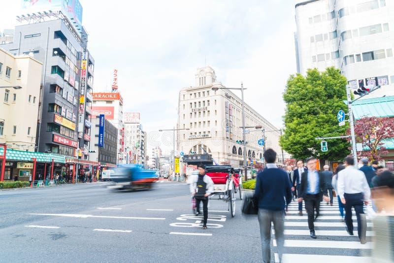Tokio, Japón - 15 de noviembre de 2016: Ciudad de Asakusa por la mañana Asakus fotografía de archivo