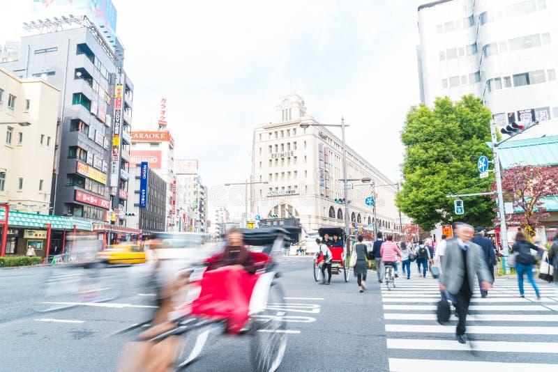 Tokio, Japón - 15 de noviembre de 2016: Ciudad de Asakusa por la mañana Asakus imagenes de archivo