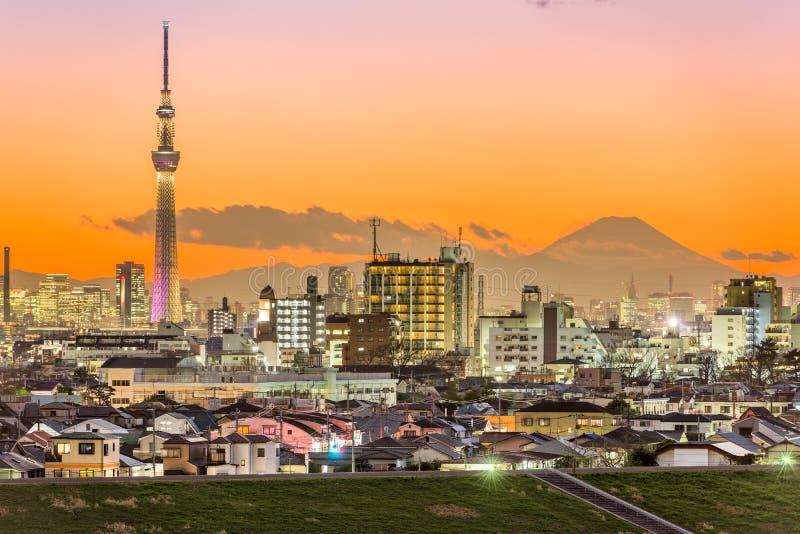 Tokio Japón y Mt fuji fotografía de archivo