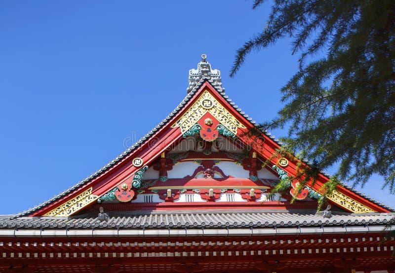 Tokio, Japonia, Asakusa Kannon świątynia Dach zdjęcie royalty free