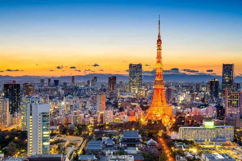 Tokio, Japonia linia horyzontu zdjęcie stock