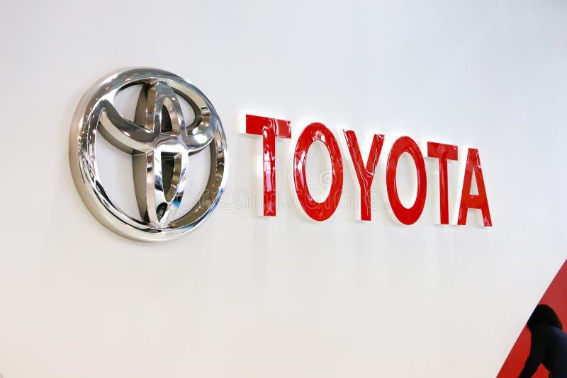 TOKIO JAPONIA, LIPIEC, - 10, 2017: TOYOTA logo obrazy stock