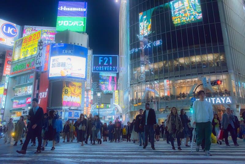 Tokio, Japonia - May 10th 2018: Shibuya skrzyżowanie zdjęcia stock