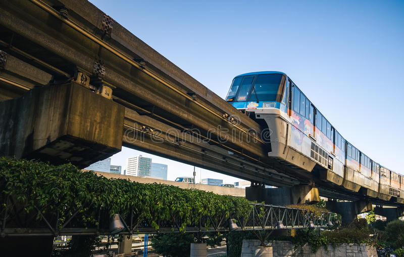 Tokio Jednoszynowy pociąg zdjęcia stock
