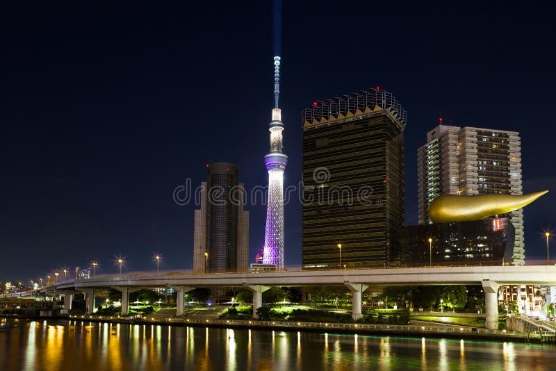 Tokio linii horyzontu noc zdjęcia stock