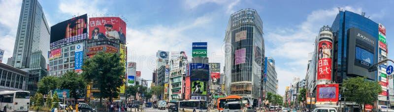 TOKIO, MAJ - 23, 2016: Shibuya linia horyzontu i budynki Shibuya jest zdjęcia royalty free