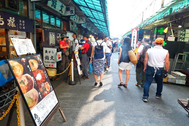 Tokio: Mercado de pescados de Tsukiji fotos de archivo