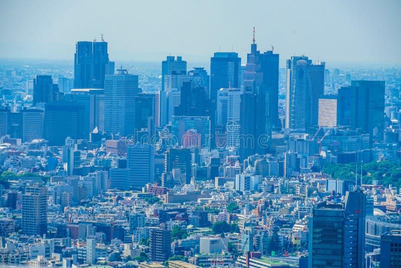 Tokio miasta niebieskie niebo i krajobraz obrazy stock