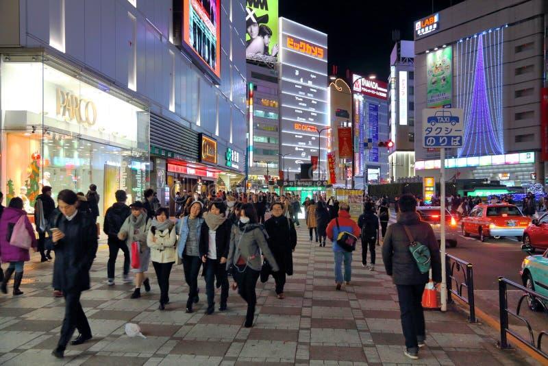 Tokio miasta noc fotografia stock