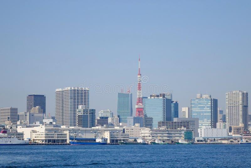 Tokio miasta Tokio i drapacza chmur wierza obraz stock