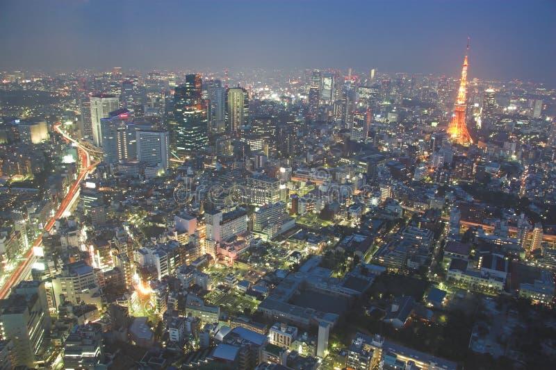 Tokio na noc zdjęcie stock