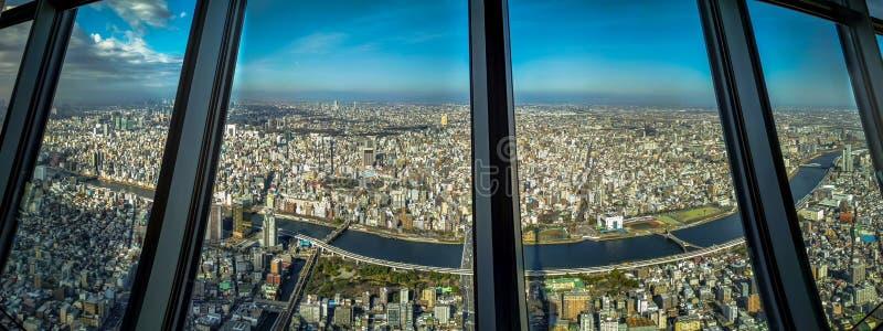 Tokio panorama obraz royalty free