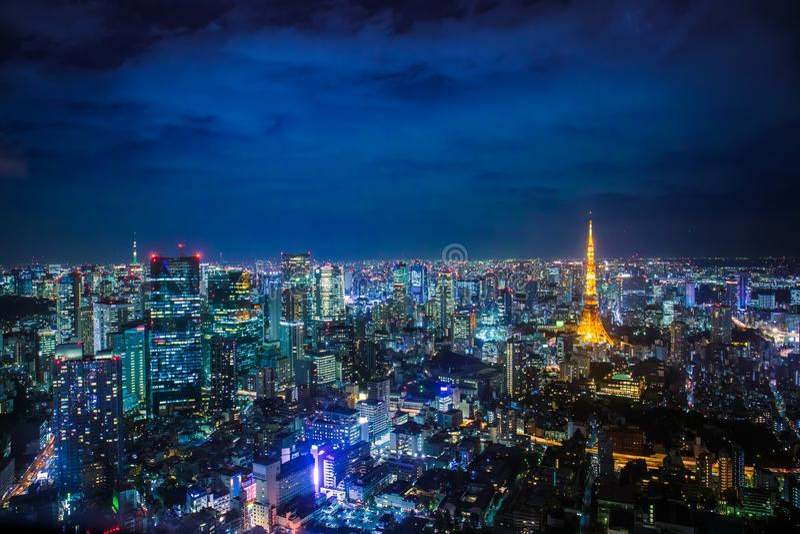 Tokio pejza? miejski zdjęcia royalty free