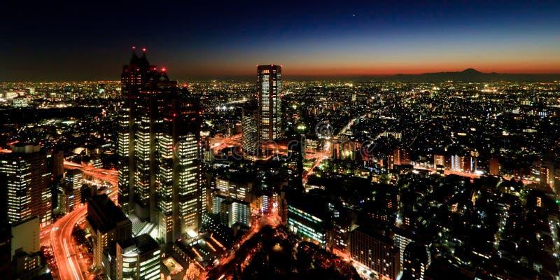 Tokio przy noc zdjęcie stock