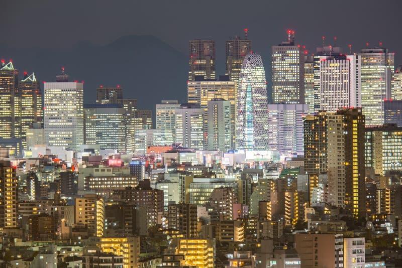 Tokio Shinjuku con Fuji fotos de archivo libres de regalías