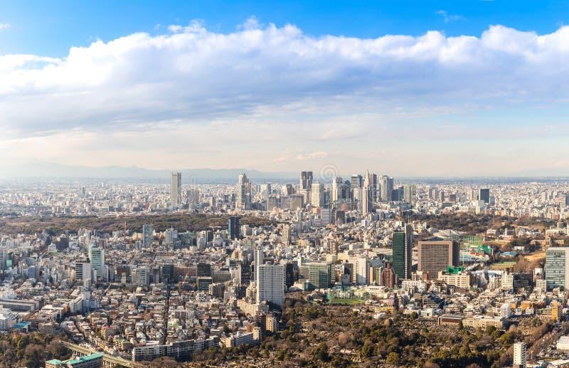 Tokio Shinjuku linie horyzontu obraz stock