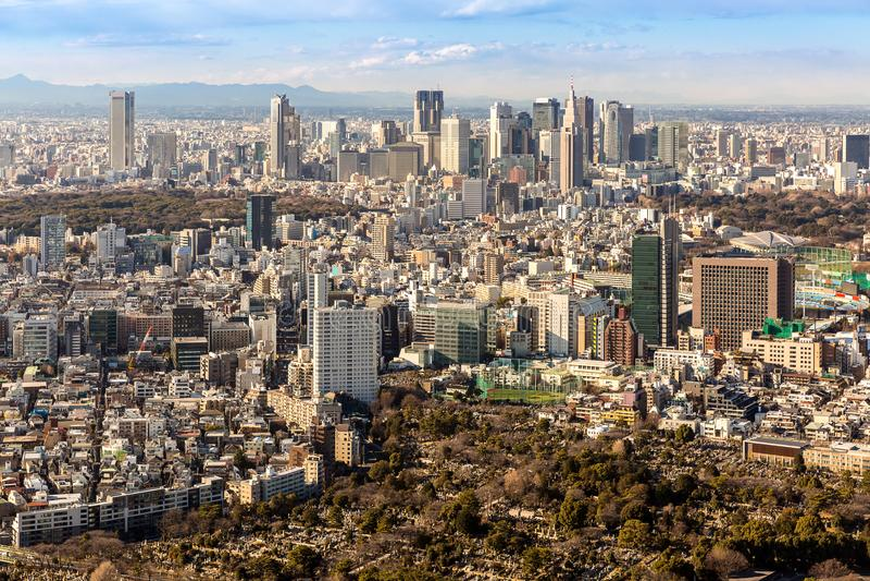 Tokio Shinjuku linie horyzontu fotografia royalty free